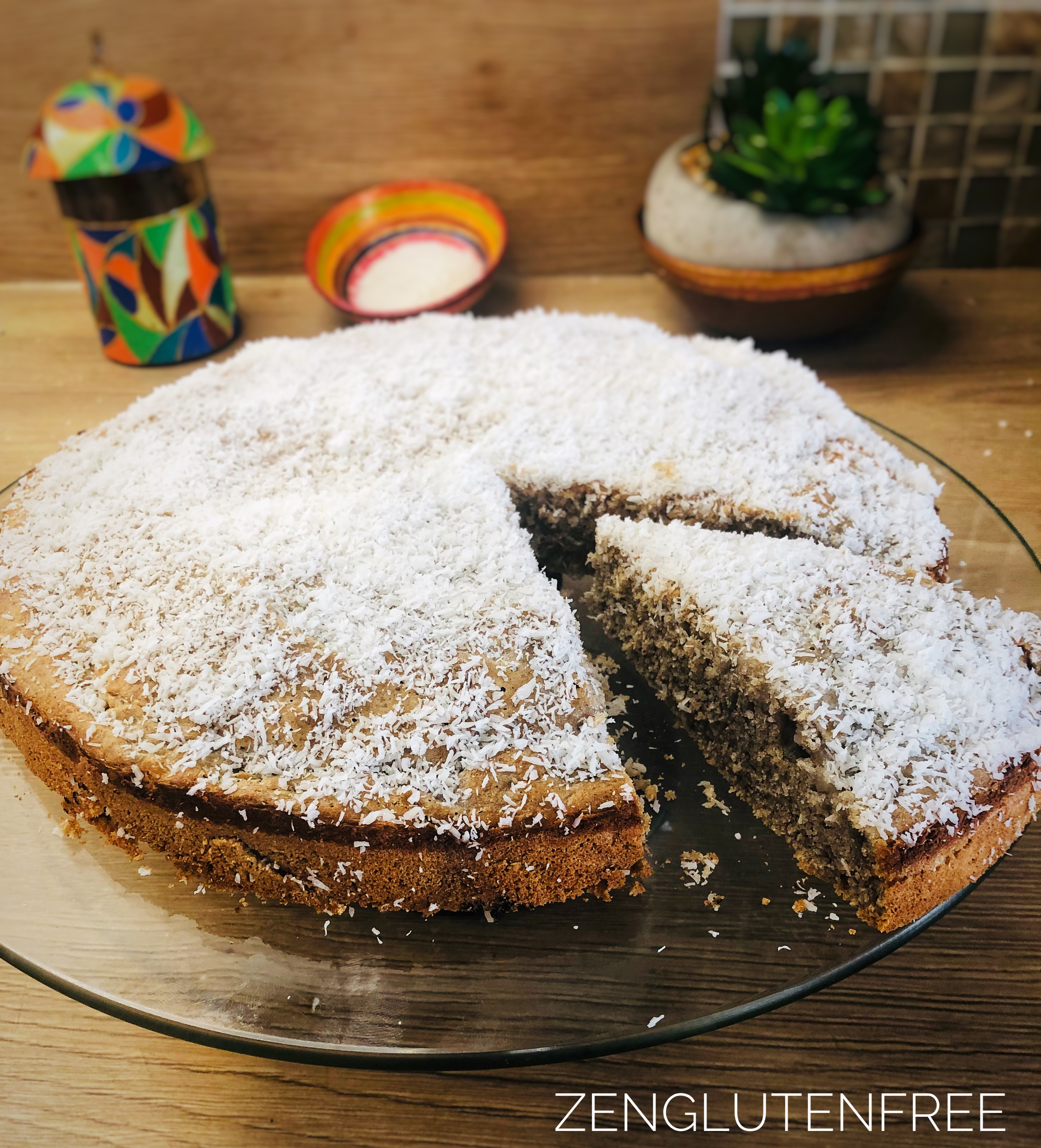 Gâteau à la noix de coco sans gluten