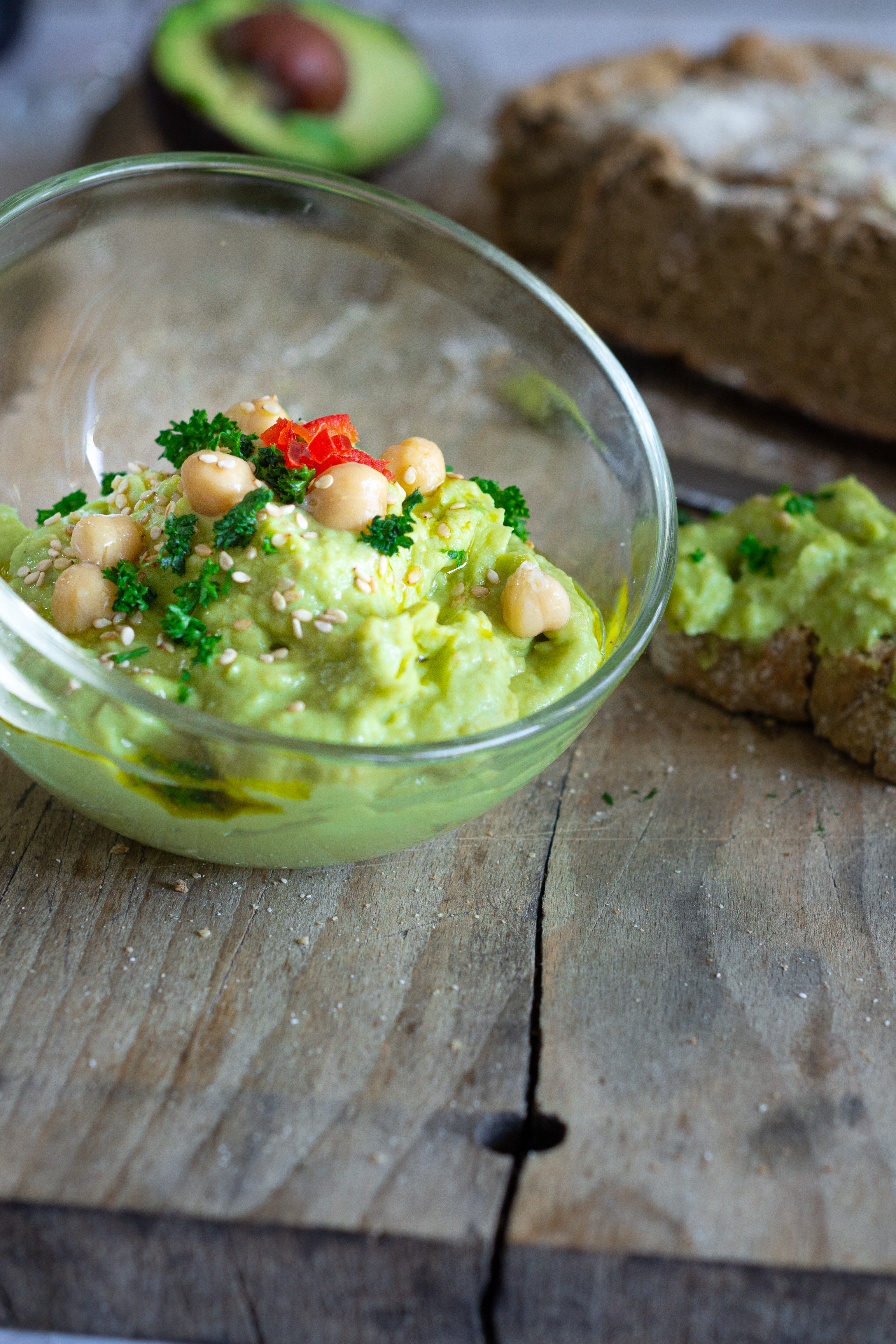 Tartinade avocat pois chiches