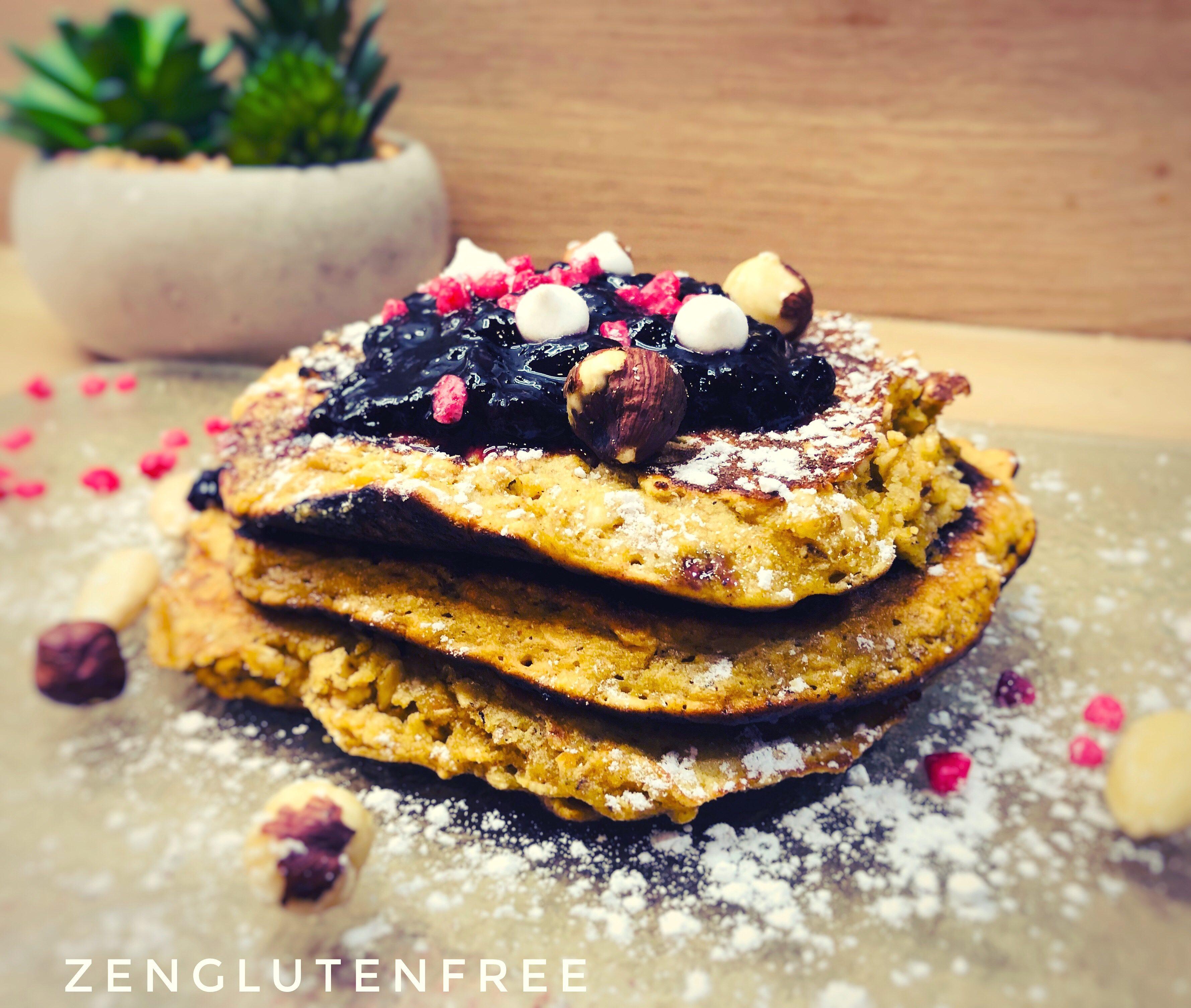 Pancakes protéinés sans gluten ni lactose