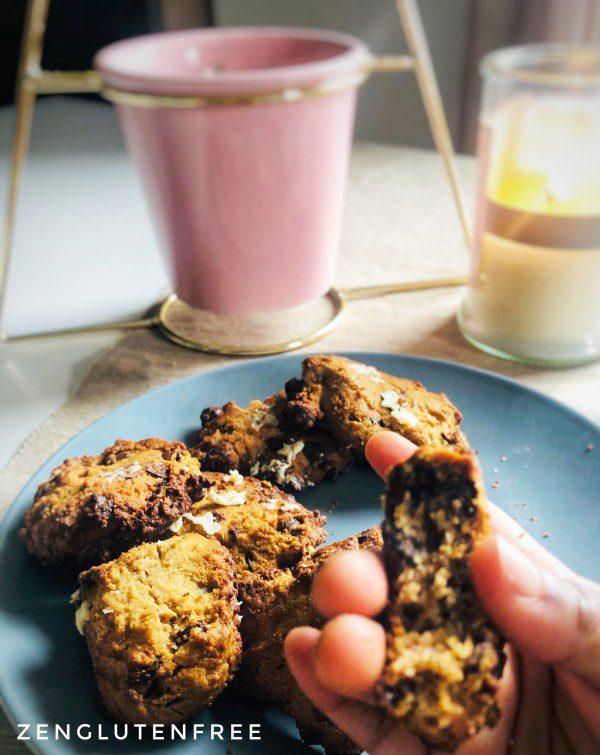 Cookies à la farine de châtaigne sans gluten