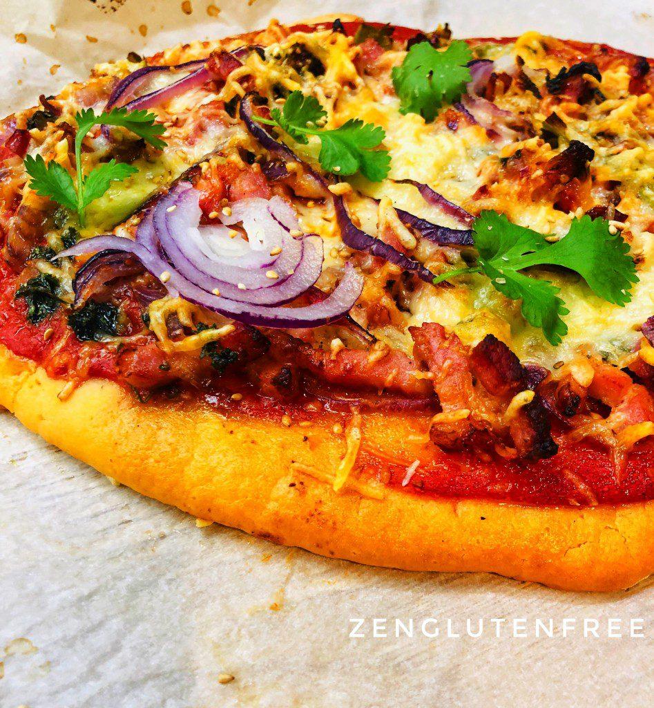 Délicieuse pizza sans gluten