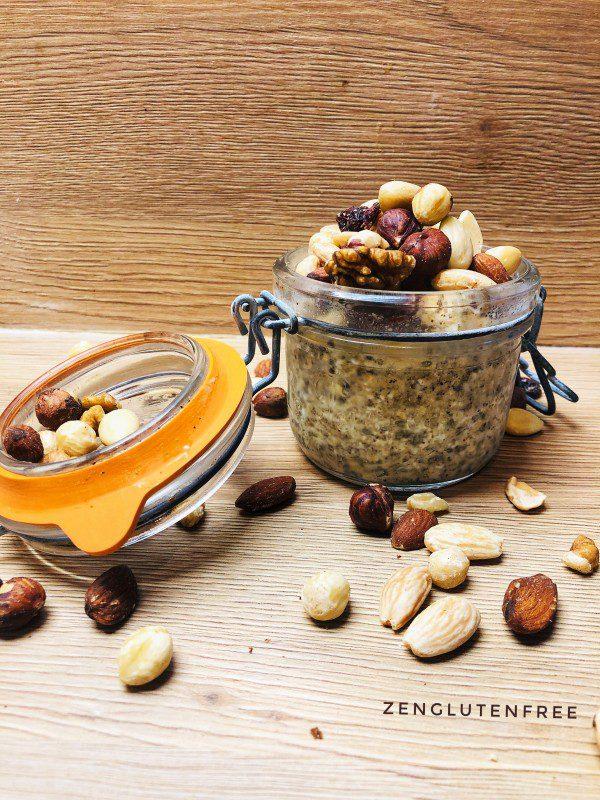 Overnight oats sans gluten