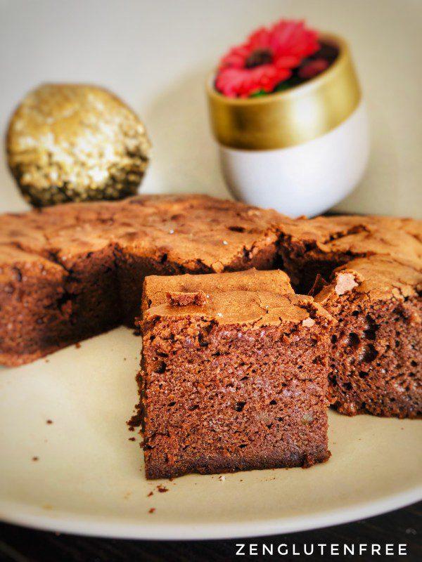 Moelleux chocolat coco cacahouète sans gluten et sans lactose