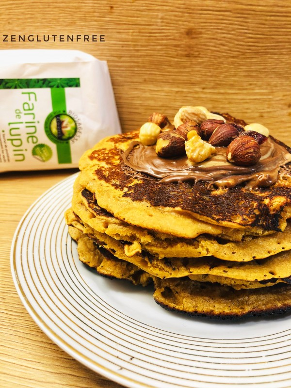 Pancakes châtaigne lupin