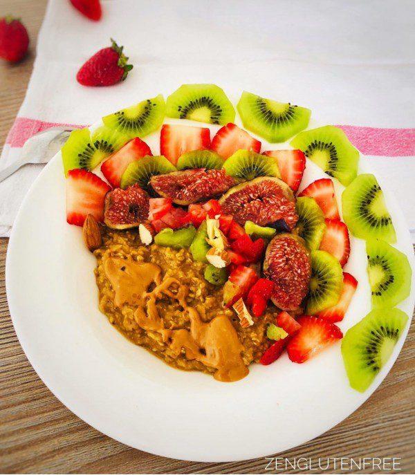 Porridge crémeux vegan et sans gluten