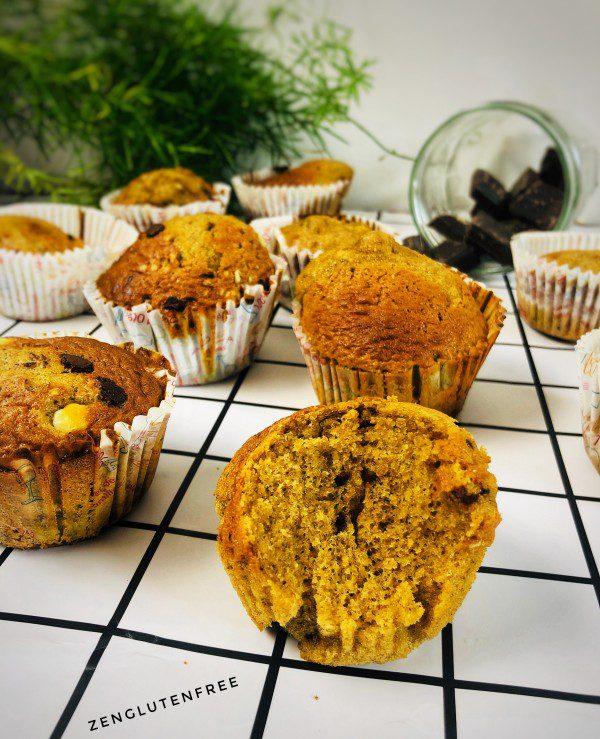Muffins moelleux au sarrasin sans gluten