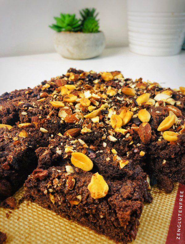 fondant chocolat coco courgette vegan, sans gluten