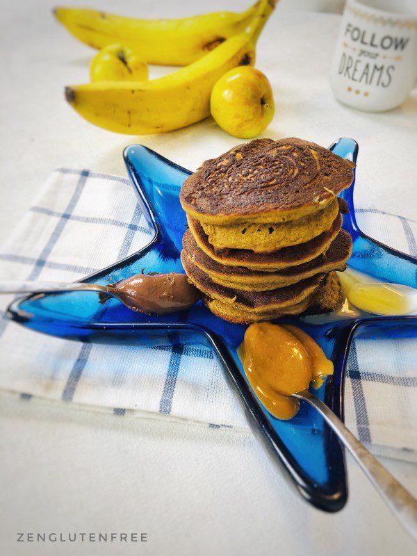 Pancakes fluffy vegan et sans gluten