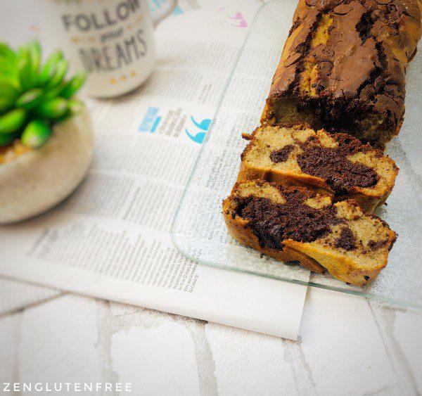 Gâteau marbré sans gluten et sans lactose