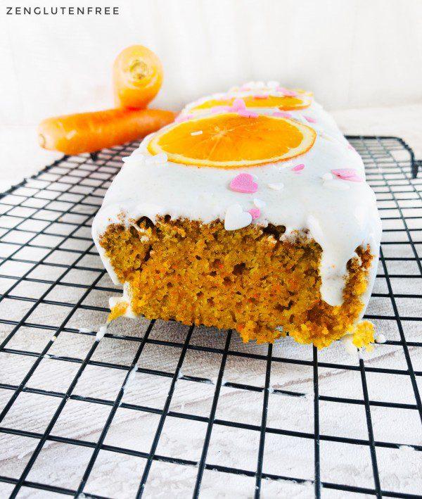 Carrot cake sans gluten et sans lactose