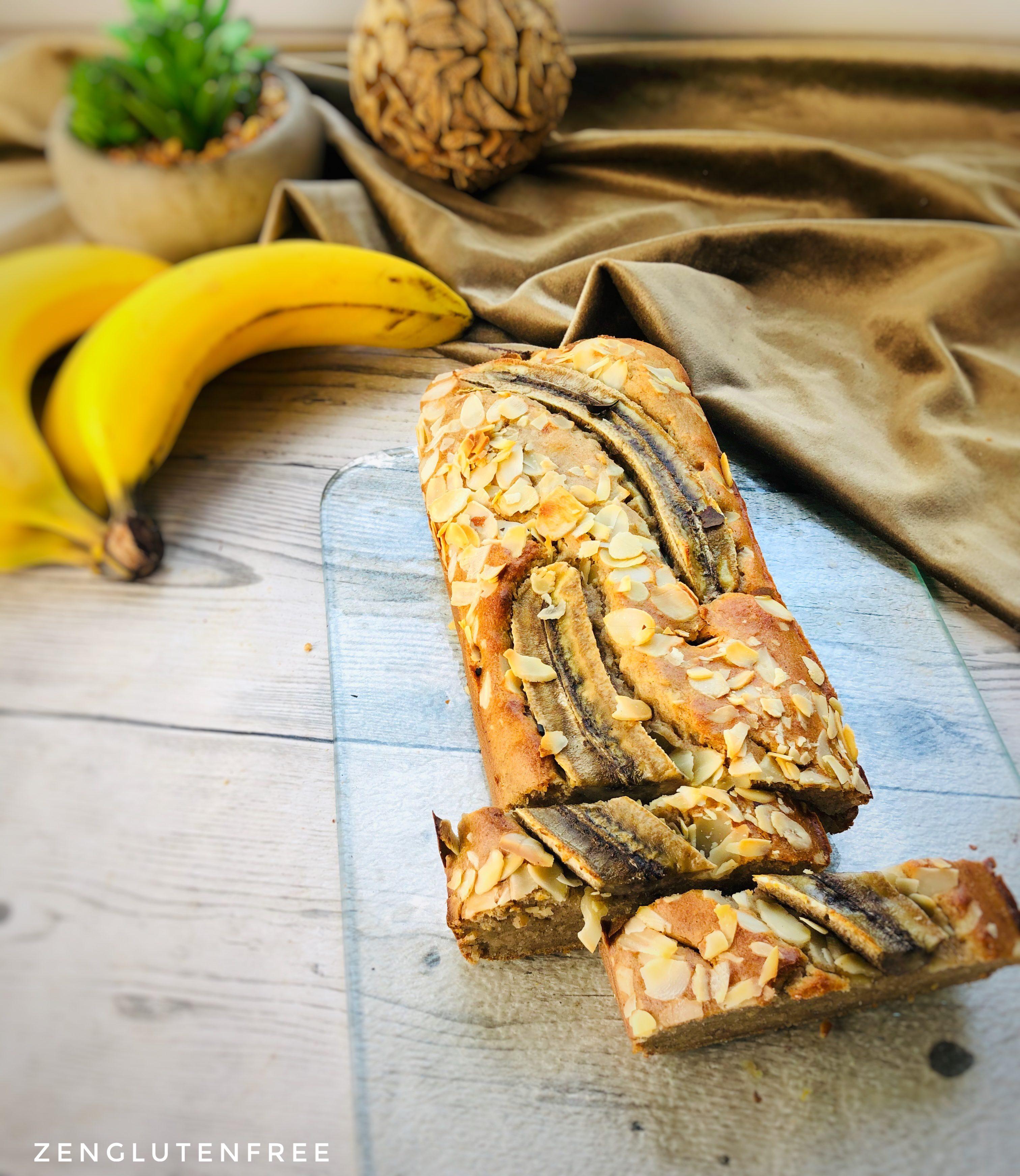 Banana bread sans œufs sans gluten et sans lactose