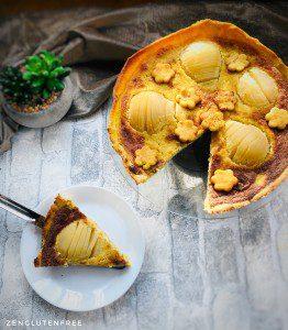 tarte à la poire sans gluten et sans lactose