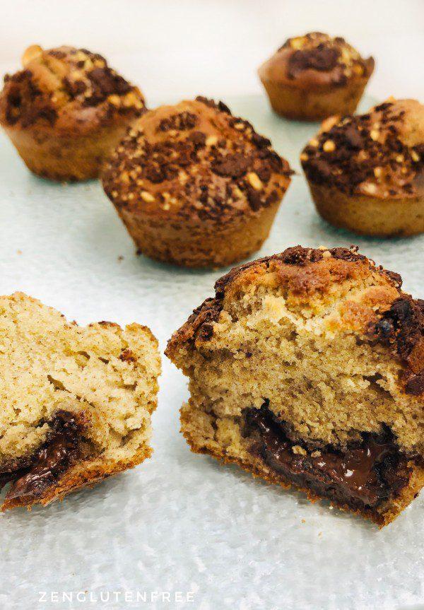Muffins cœur chocolat sans gluten et sans lactose