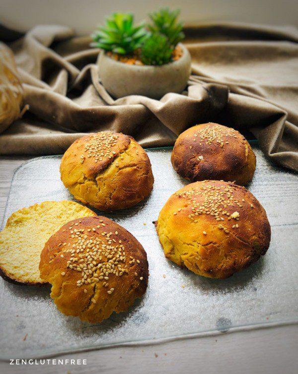 Buns ou pains à burger sans gluten et sans lactose