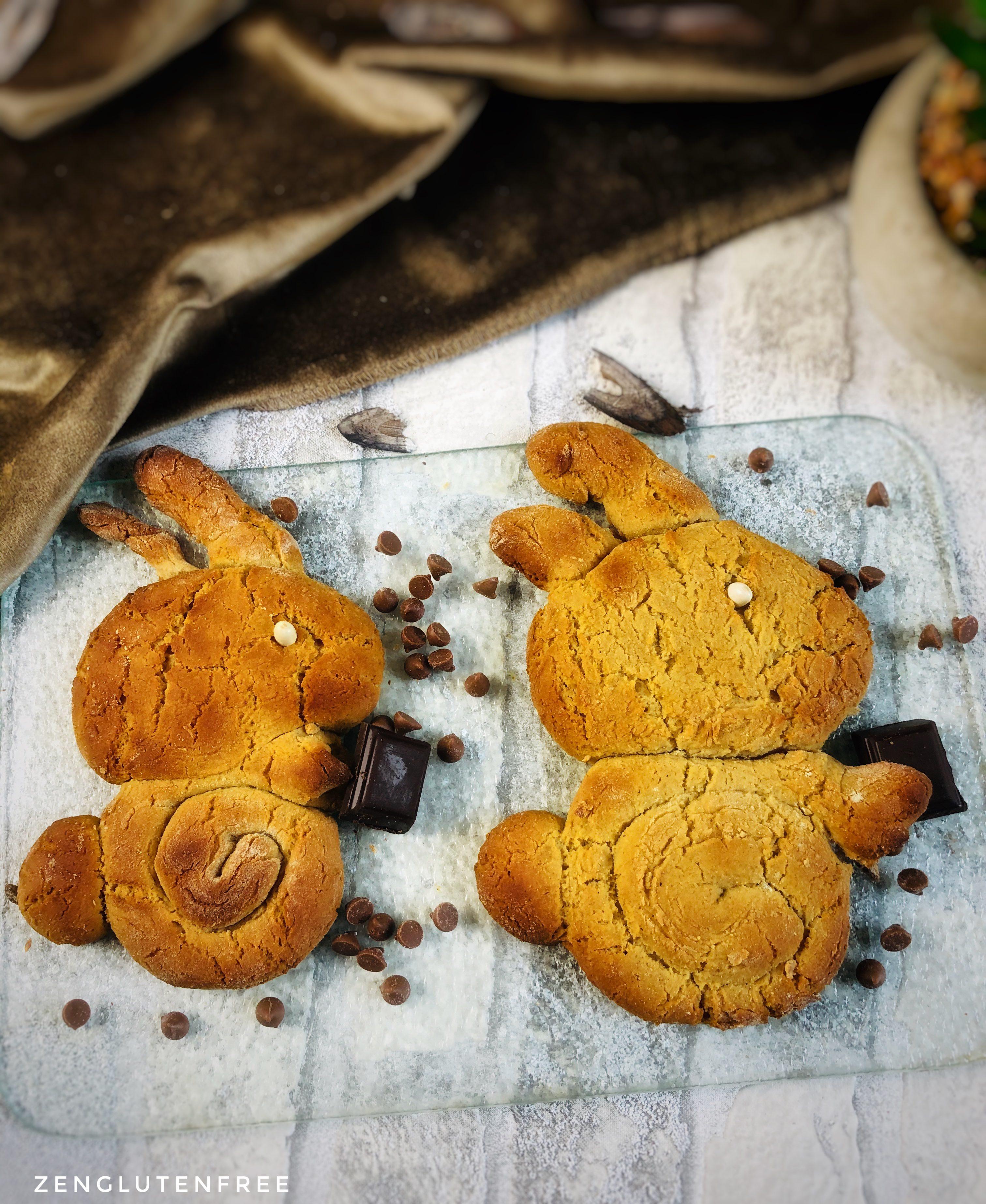 Briochettes, lapin briochés de pâques  sans gluten et sans lactose
