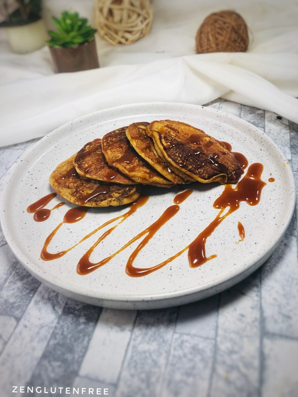 Pancakes proteinés sans œufs sans gluten et sans lactose