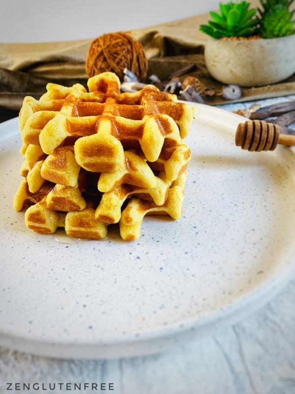 Gaufres moelleuses sans gluten et sans lactose