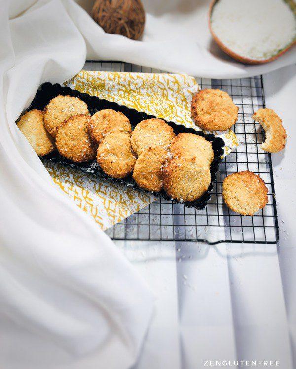 Biscuits moelleux coco sans œufs sans gluten sans lactose