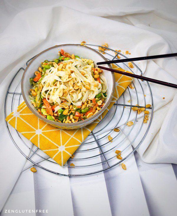 Pad thaï express aux légumes  sans gluten