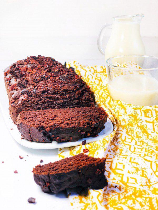 Gâteau chocolat noix courgette  sans gluten