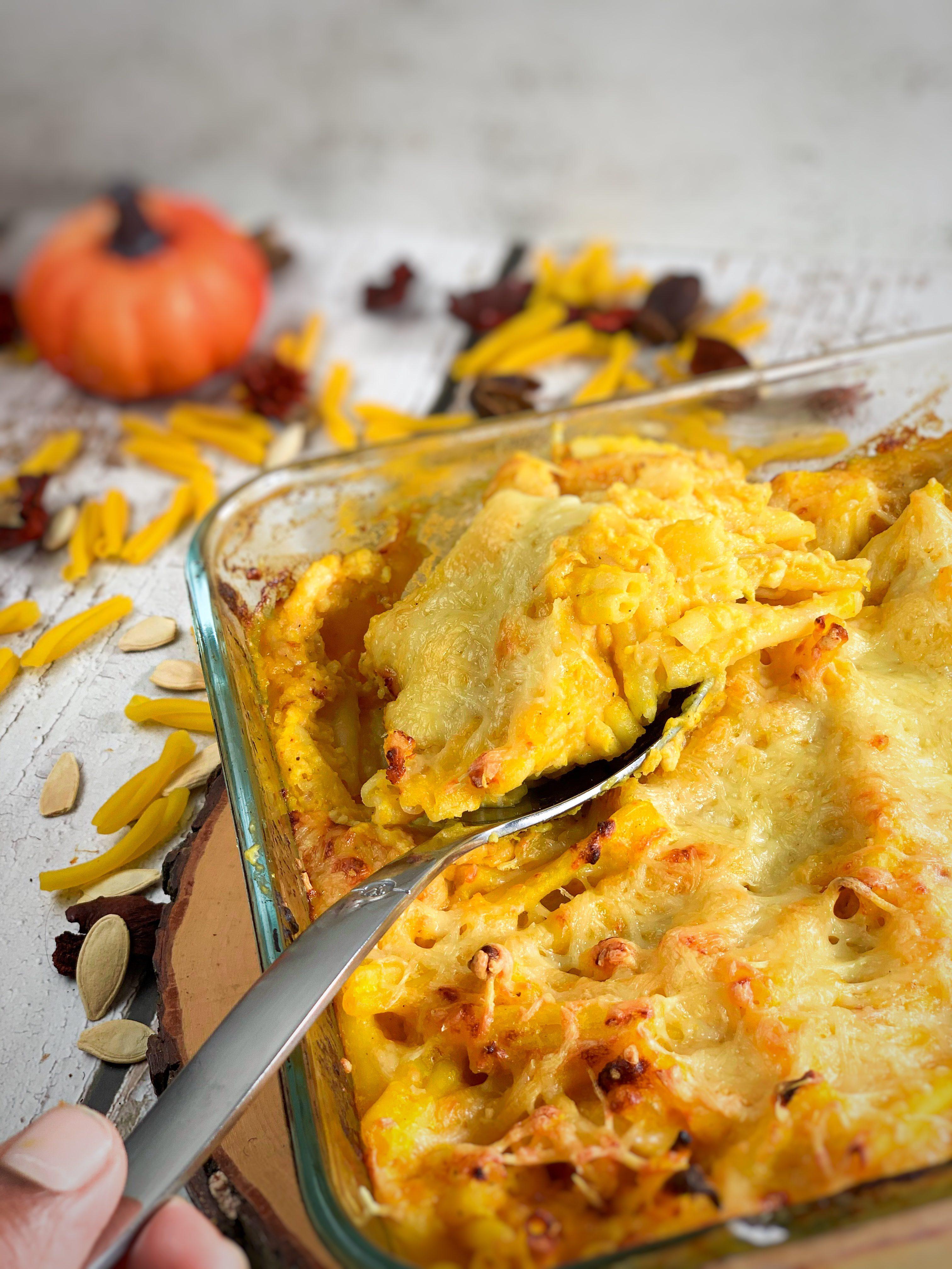 Gratin de pâtes au potiron façon mac and cheese