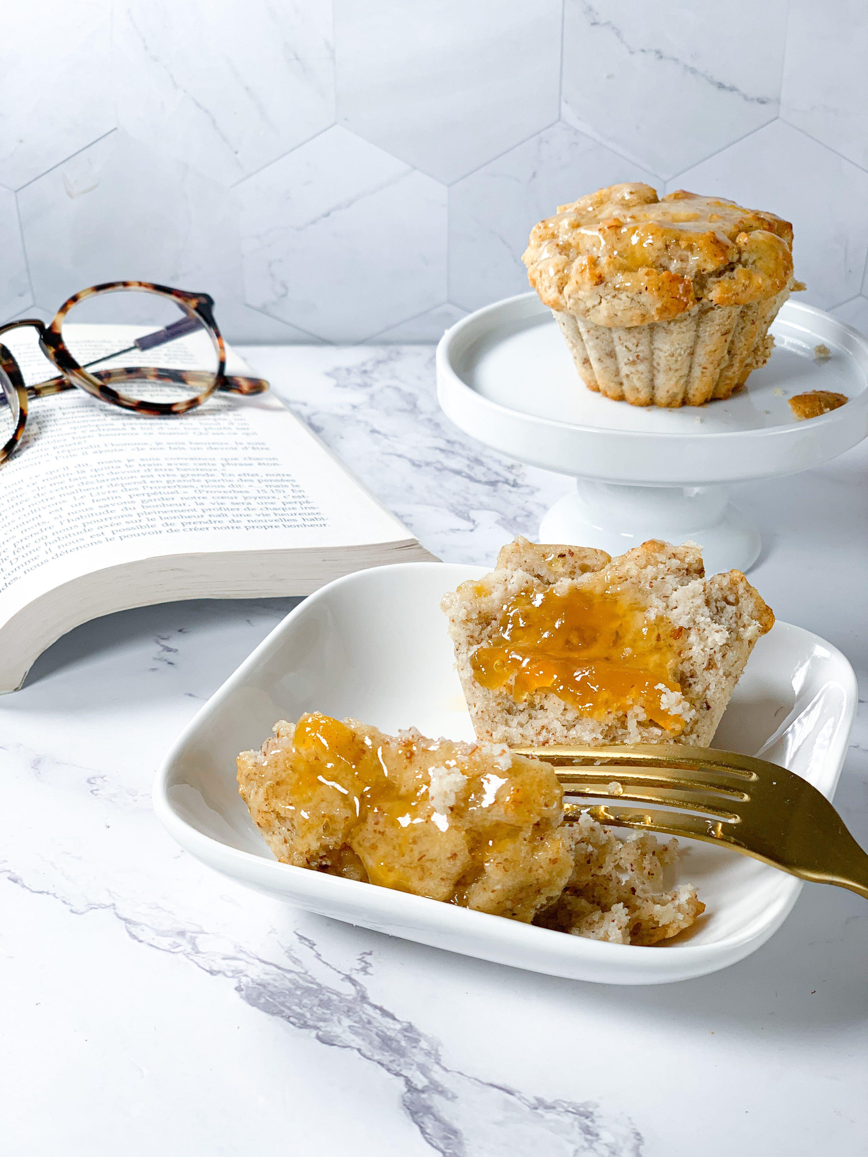 Muffins à la confiture vegan sans gluten